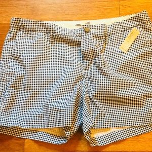 NWT Old Navy Blue Gingham shorts, size 10